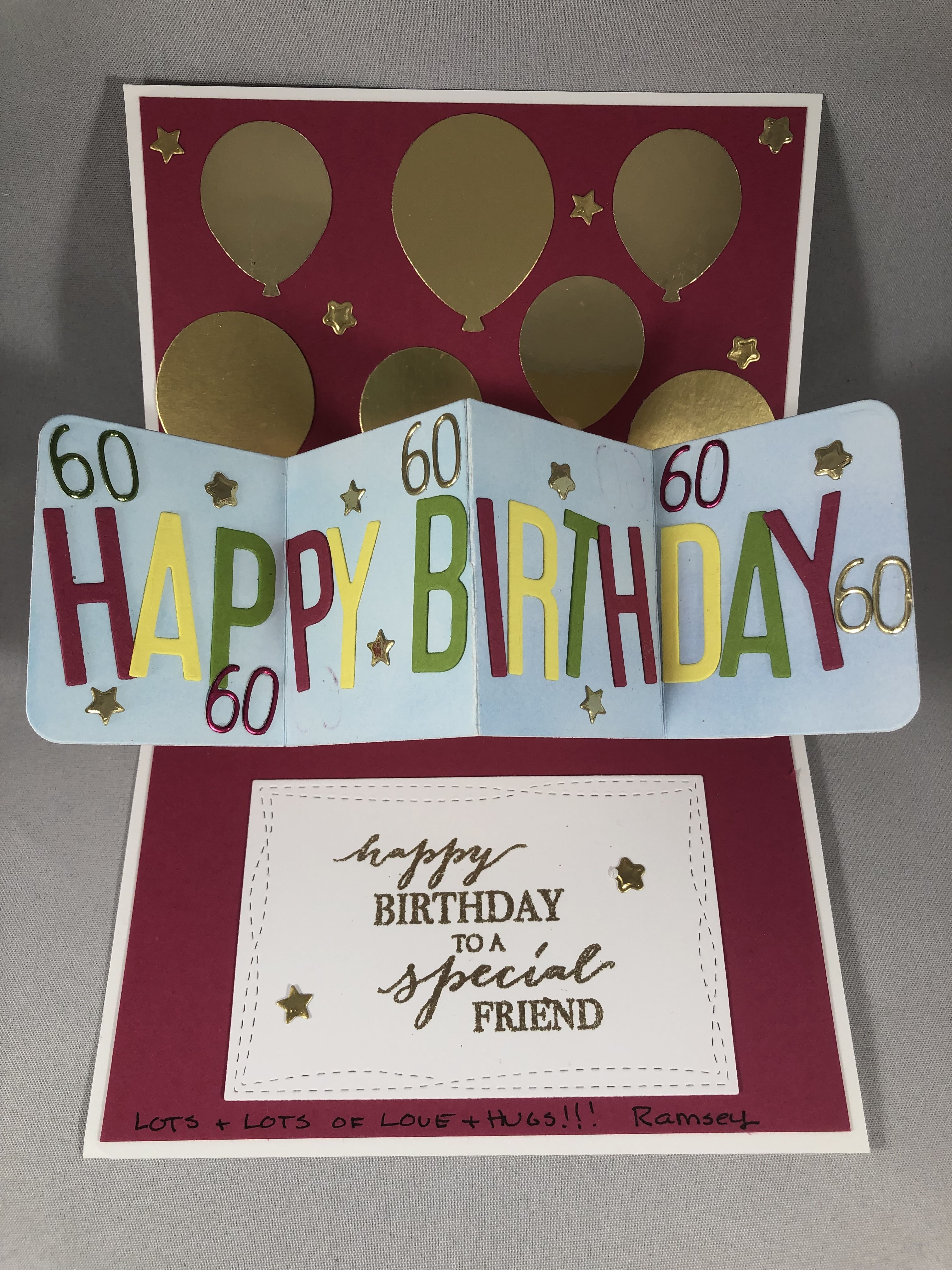 Birthday Card Idea For More Inspiration Visit Www Juststampin Com Jeanie Stark Stampin Up 60th Birthday Cards 80th Birthday Cards 21st Birthday Cards