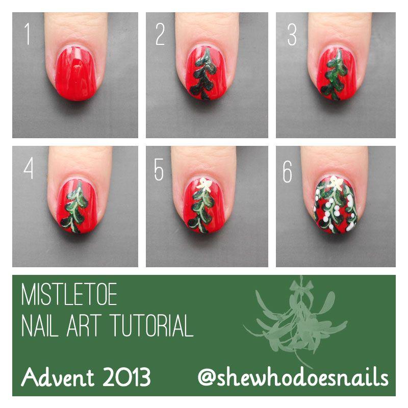 Advent tutorial mistletoe nail art nails pinterest advent tutorial mistletoe nail art prinsesfo Choice Image