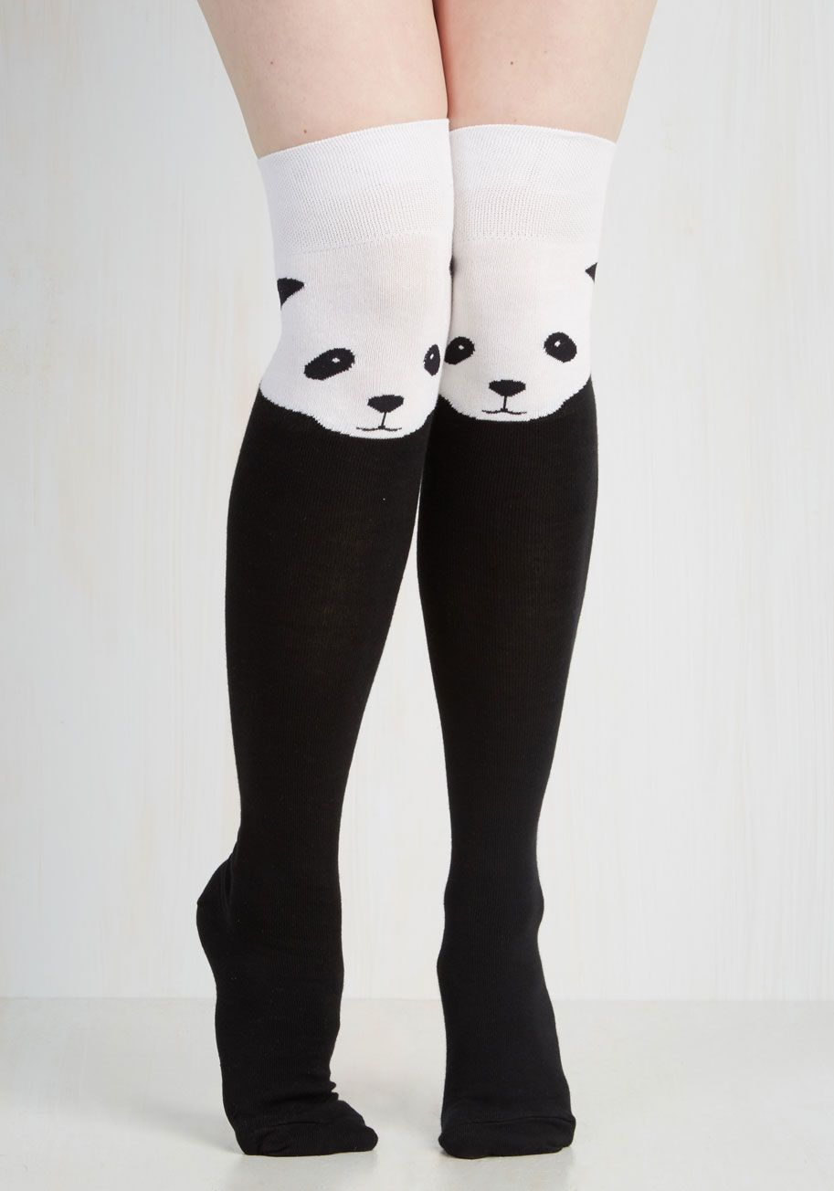 4c0e611d5 Ex-Panda-ble Enjoyment Socks. Your affinity for fun details is apparent  whenever you accessorize with these not-so-ordinary knee-high socks!
