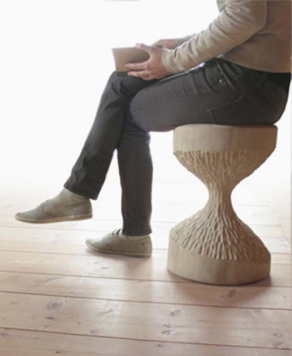 Unparalleled Hand Carved Bobra Stools from Mowo Studio
