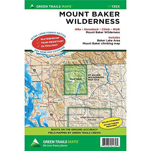 Green Trails Maps Mount Baker Wilderness Climbing 13S -- Check out
