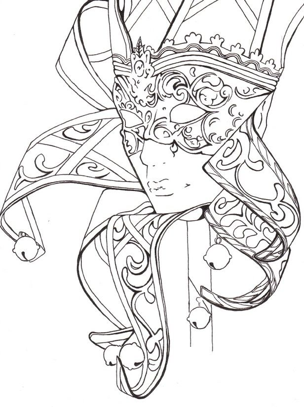 Mask Carnival Fantasy Coloring pages colouring adult
