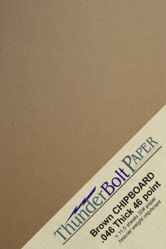 100 sheets chipboard 46pt point 4 25 x 5 5 inches heavy weight one
