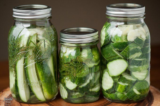 Easy Refrigerator Dill Pickles - Self Proclaimed Foodie