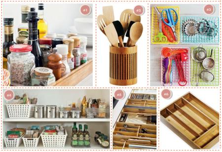 Ideias de cestos e bandejas para organizar a cozinha