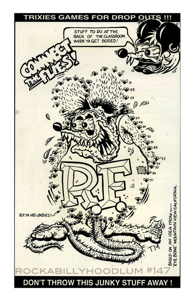 New Hot Rod Poster 11x17 Ed Big Daddy Roth Rat Connect the Flies game art