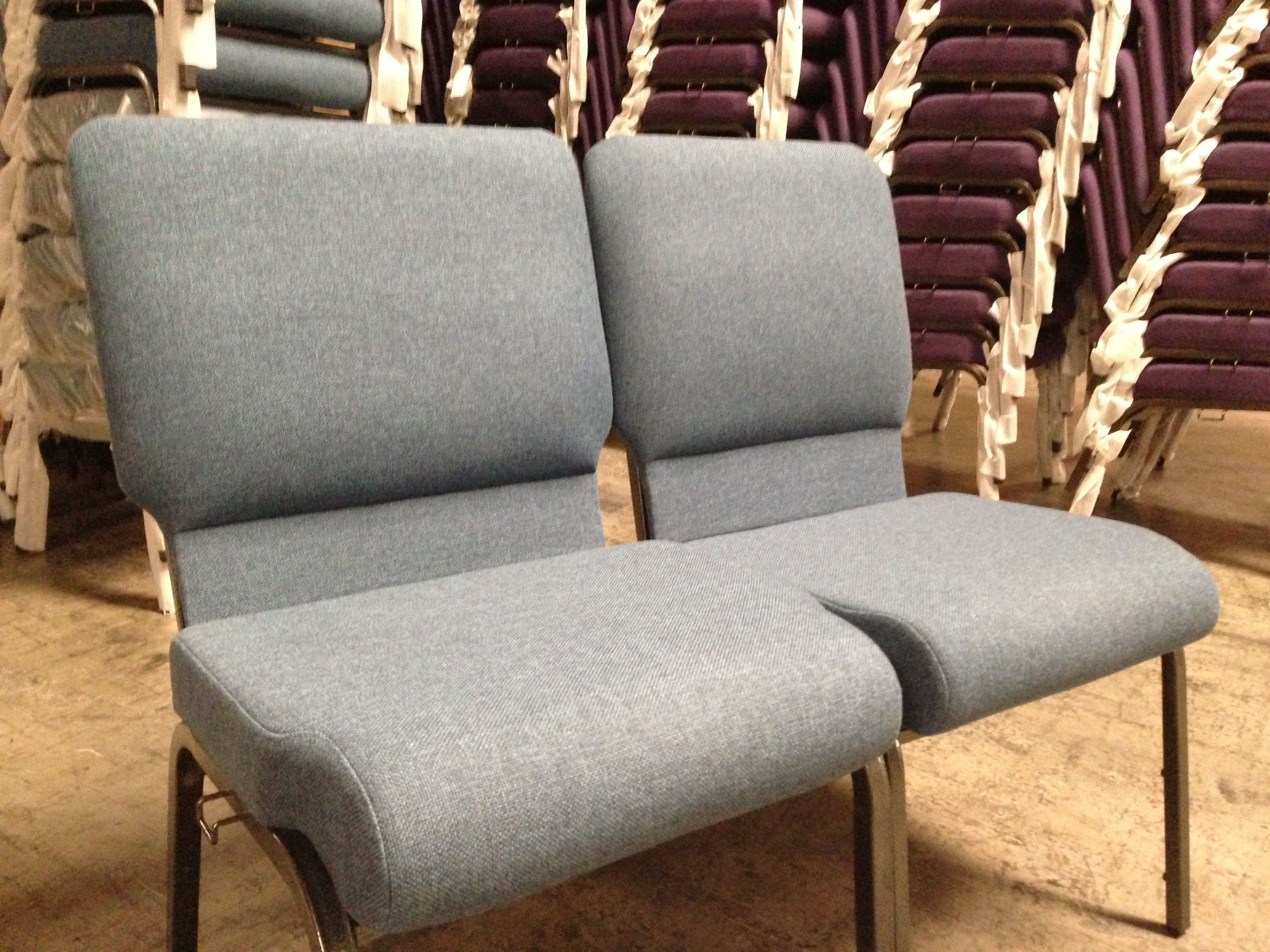 "Our 19"" Victory Church chair and the brand new Freedom Church"