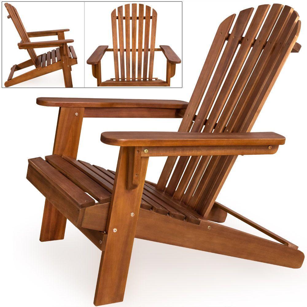 Sedia sdraio sedia da giardino lettino prendisole legno acacia in ...