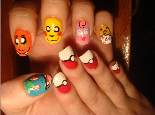 pokemon now o invest in a LOT of nail polish lol