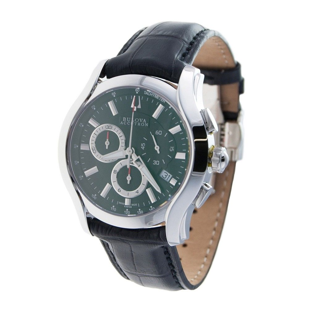 f42047136 Bulova Accutron Men's 'Stratford Collection' Leather Band Chrono Watch |  Overstock™ Shopping - Big Discounts on Accutron Accutron Men's Watches