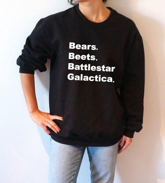 Bears Beets Battlestar Galactica Sweatshirt Unisex The Office Tv