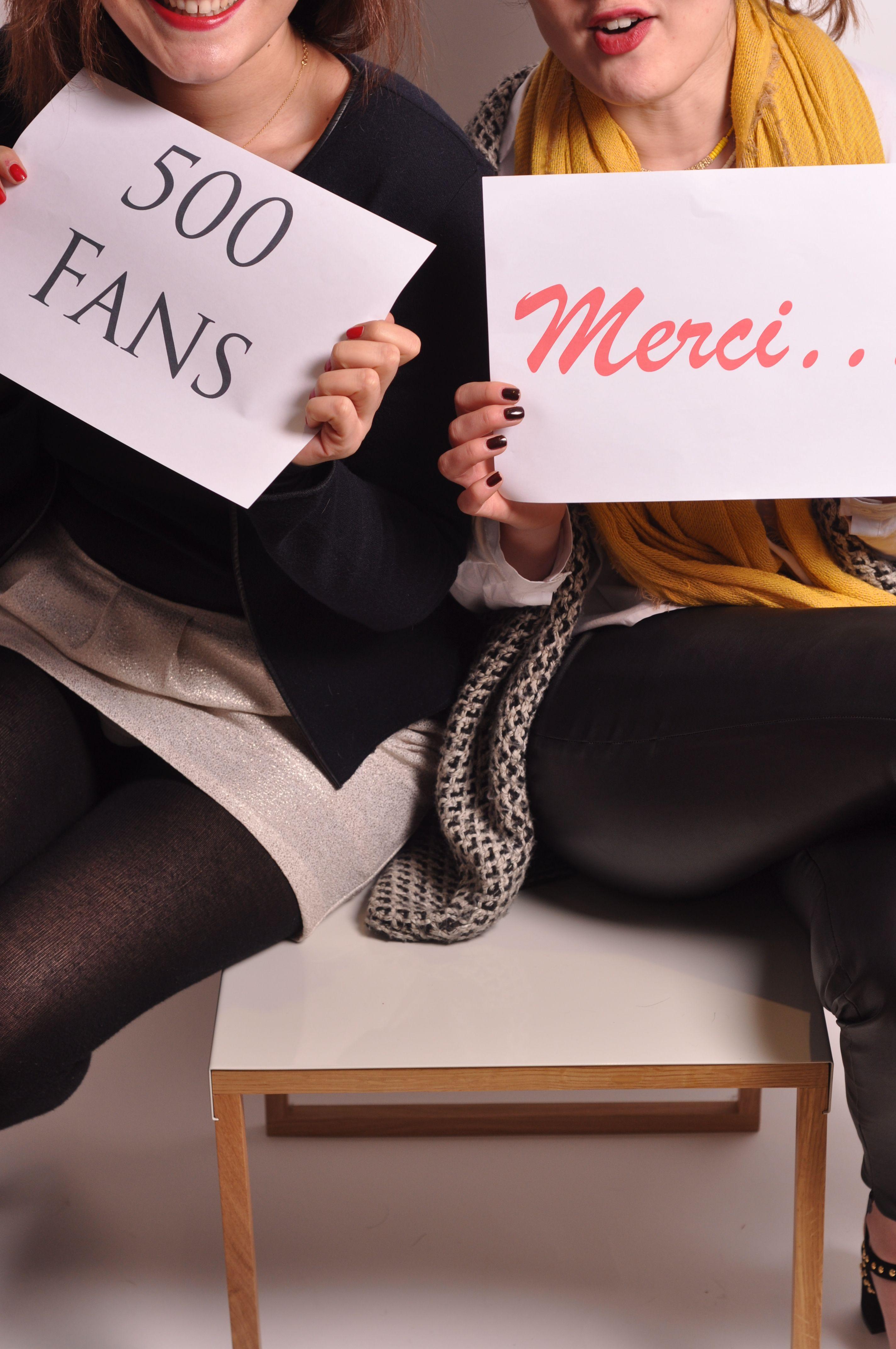 500 Fans ça se fête !  Encore plein de surprises et de cadeaux vous attendent sur My Francie Design ... Pour vous remercier, le site dispose de nouvelles fonctionnalités dont pour la première fois en France, une application de social shopping ... ---------> Allez vite découvrir ce que ça veut dire ! Elodie Lebid & Cécile Fie