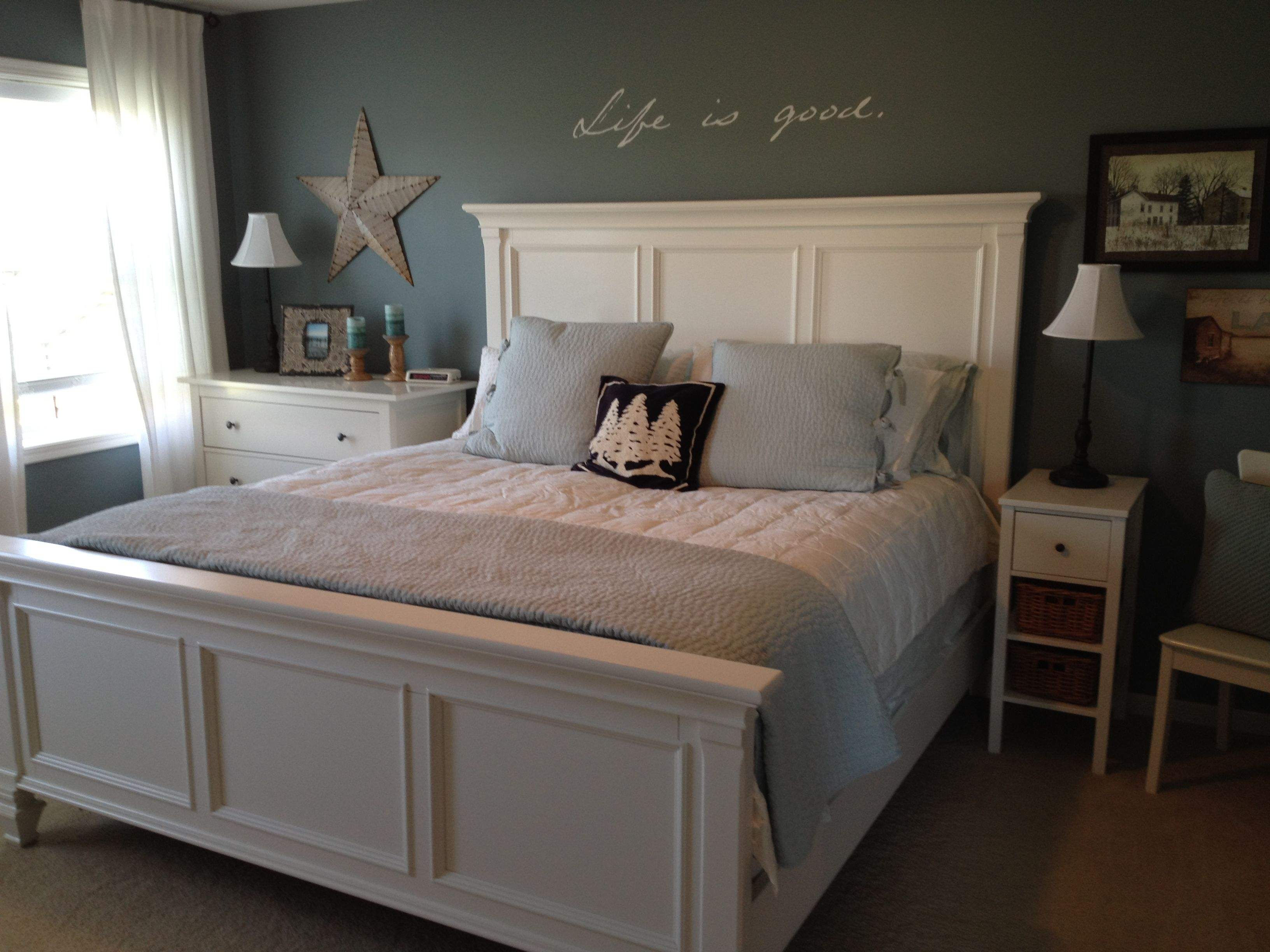 My Room Blue White Bedroom Pottery Barn Pick Stitch Quilt