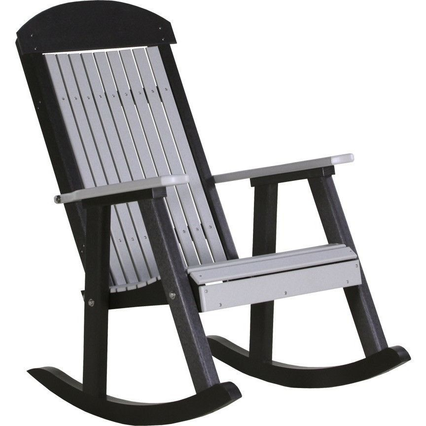 Luxcraft Classic Highback Recycled Plastic Rocking Chair Rocking Chair Plastic Rocking Chair Rocking Chair Porch