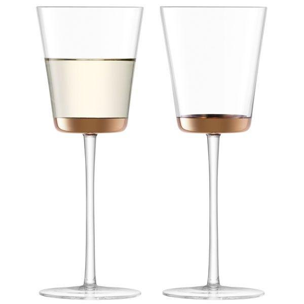 7d2b24c3de7 LSA Edge Wine Glasses - Set of 2 - luxury metallic glasses ...