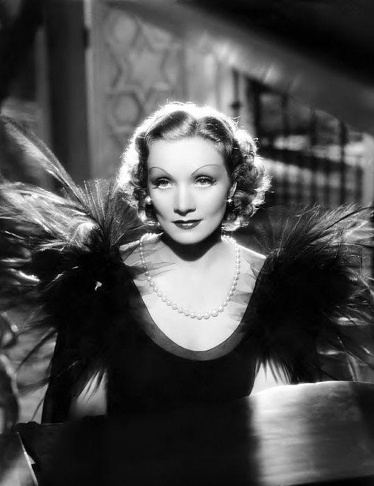 """Marlene Dietrich, publicity still for """"Desire"""", 1936."""