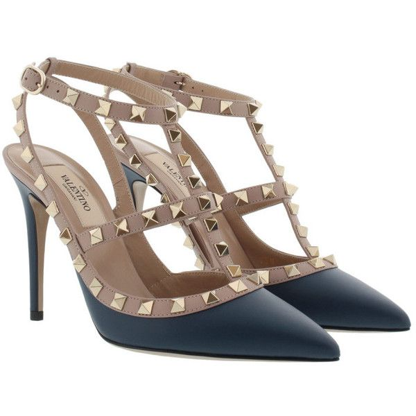 Valentino Rockstud Ankle Strap Pump Peacock in blau Pumps für Damen