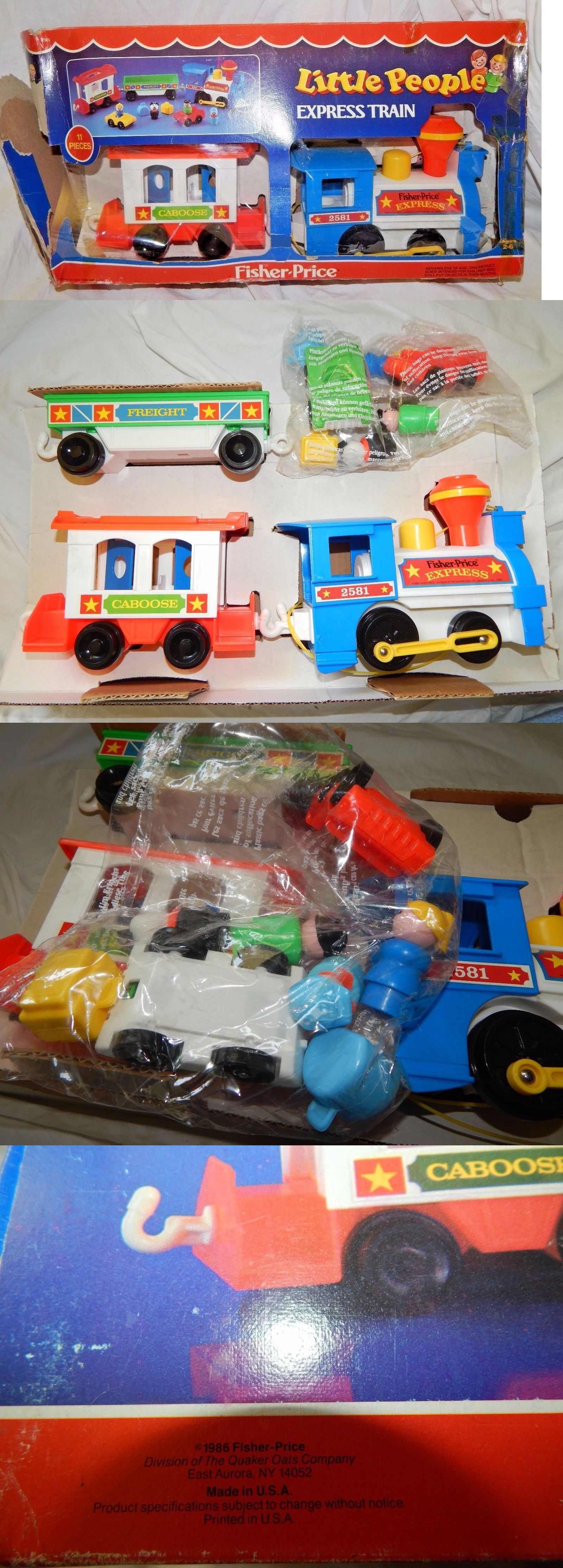 Little people car toys  Little People   New Vtg Fisher Price Express Train Set
