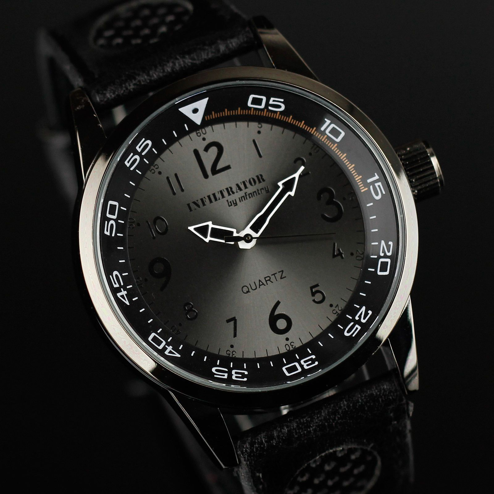 Infantry infiltrator mens analog quartz wrist watch army