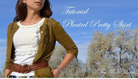 Tea Rose Home: Tutorial/ Pleated Pretty Shirt with Buttons