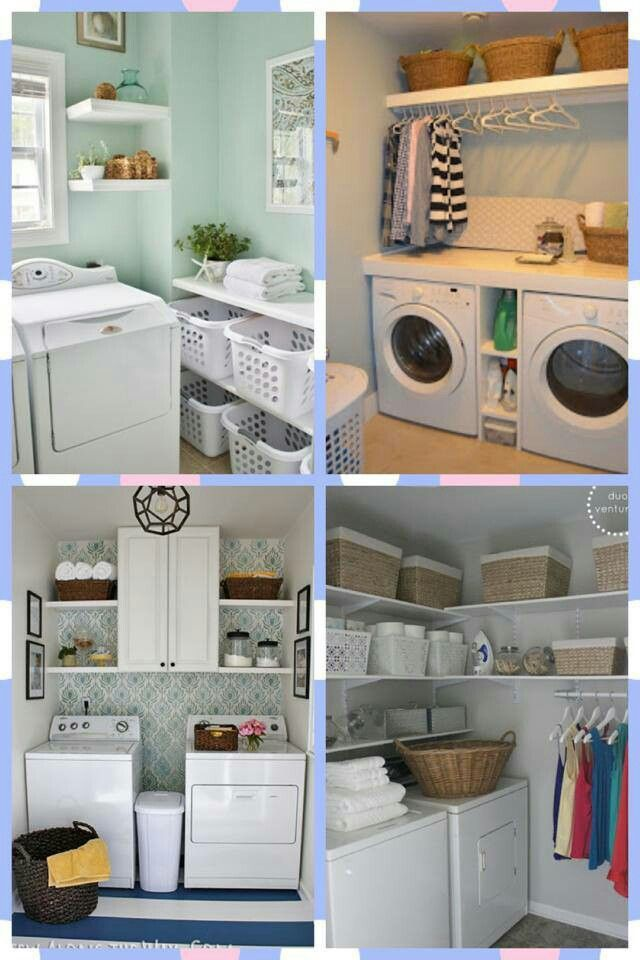 Laundry Room Storage Ideas... @Jenn L Woodall I Think Some Of These
