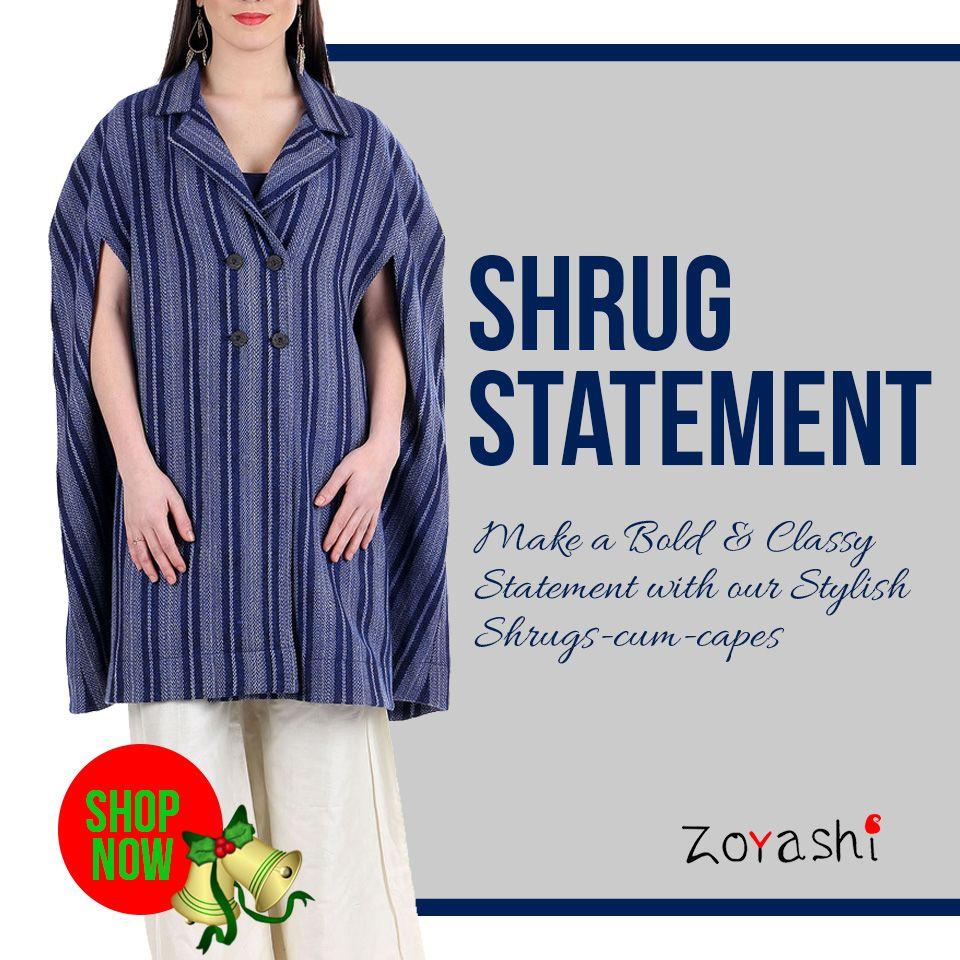 Make a statement with Zoyashi's range of Shrugs and Jackets!! For more, log onto: http://zoyashi.com/collections/jackets-shrugs Or visit us at C-14, Sushant Lok,Phase-I, Gurgaon!#MakeAStatement #With #Zoyashi #Shrugs #And  #Jackets #RockThisLookWIthZoyashii #WinterCollection #MadeInIndia #Love