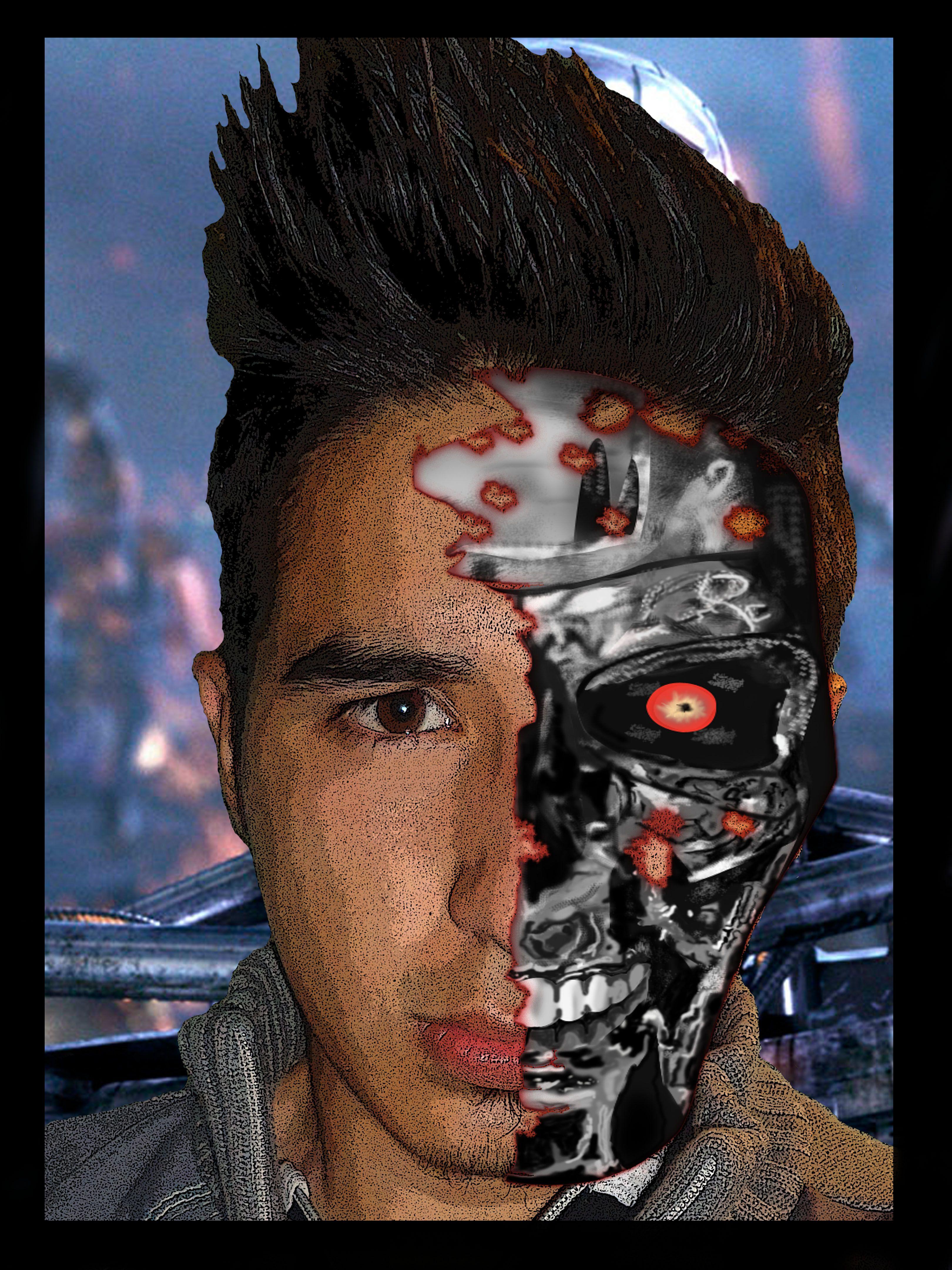 Terminator Con Pinceles De Photoshop Portafolio Michael Dise Os  # Muebles Sion Bogota