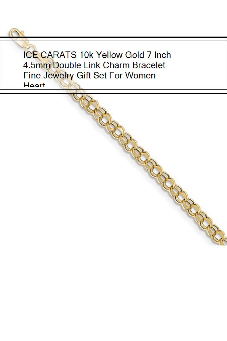 bcf1dfd322fe ICE CARATS 10k Yellow Gold 7 Inch 4.5mm Double Link Charm Bracelet Fine  Jewelry Gift
