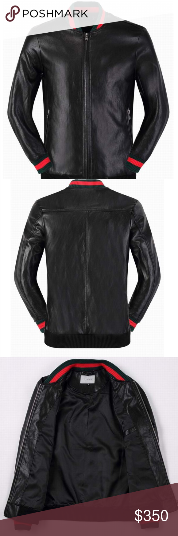 Gucci leather jacket Great simple gucci leather jacket