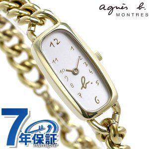 アニエスベー 時計 レディース マルチェロ 30周年 復刻 限定モデル FCSK718 agnes b. ホワイト×ゴールド 腕時計