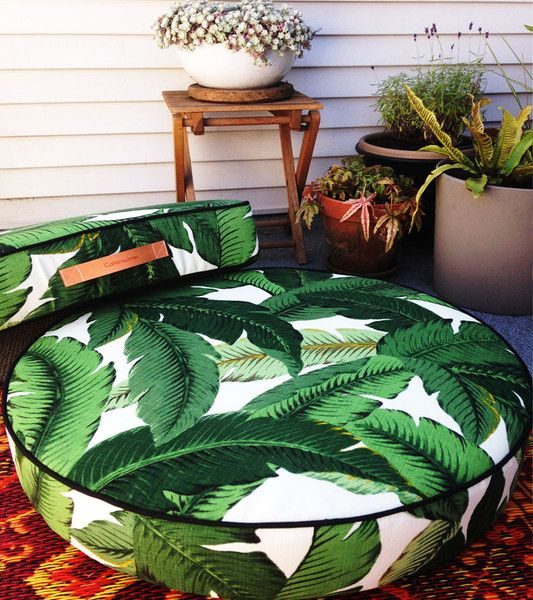Tahiti Round And Square Floor Pillows
