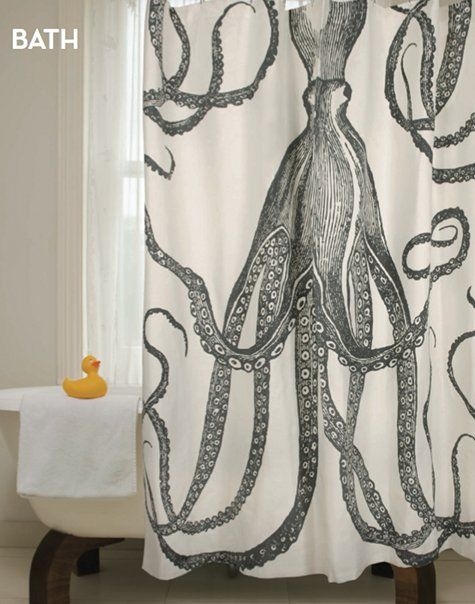 How Awesome Is This Shower Curtain The Perfect Fun Touch To A Great Beach House
