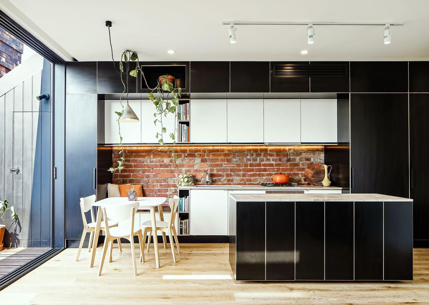 Gallery Of H I V E X Five Megowan Architectural 5 Kitchen Design Kitchen Interior Black Kitchen Cabinets