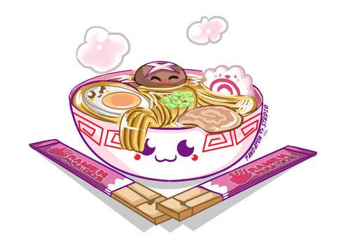 ramen cute soup Kawaii, Cute art, Cute drawings