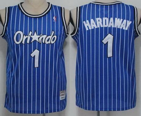58fef1a48 Orlando Magic 1 Penny hardaway white black stripe Jerseys