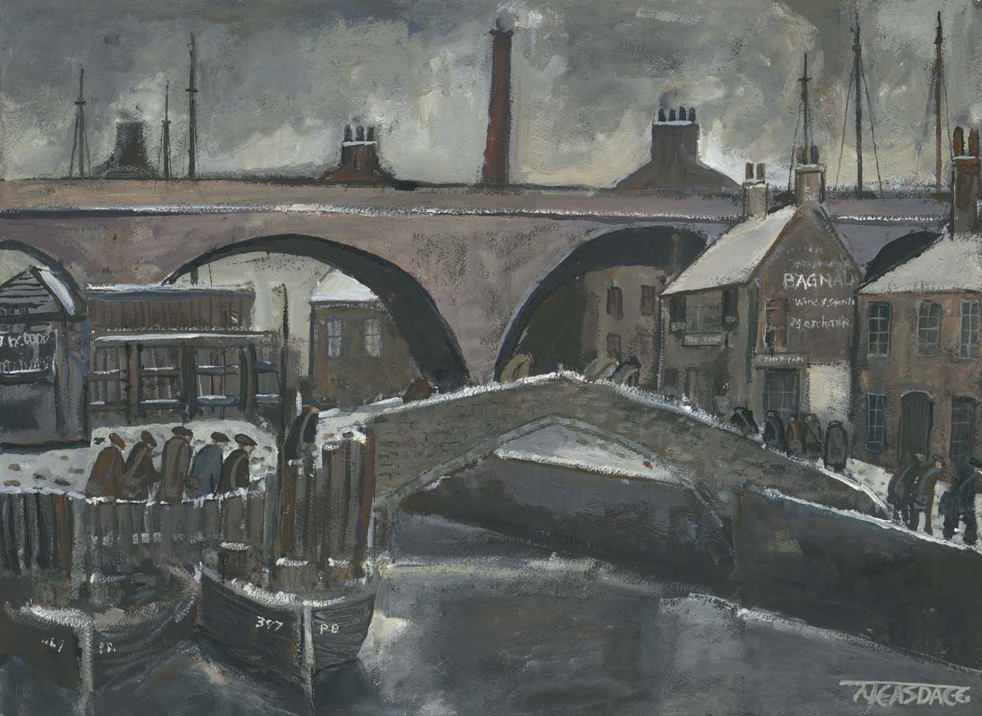 Under Glasshouse Bridge Ouseburn Industrial Art Glass House Limited Edition Giclee