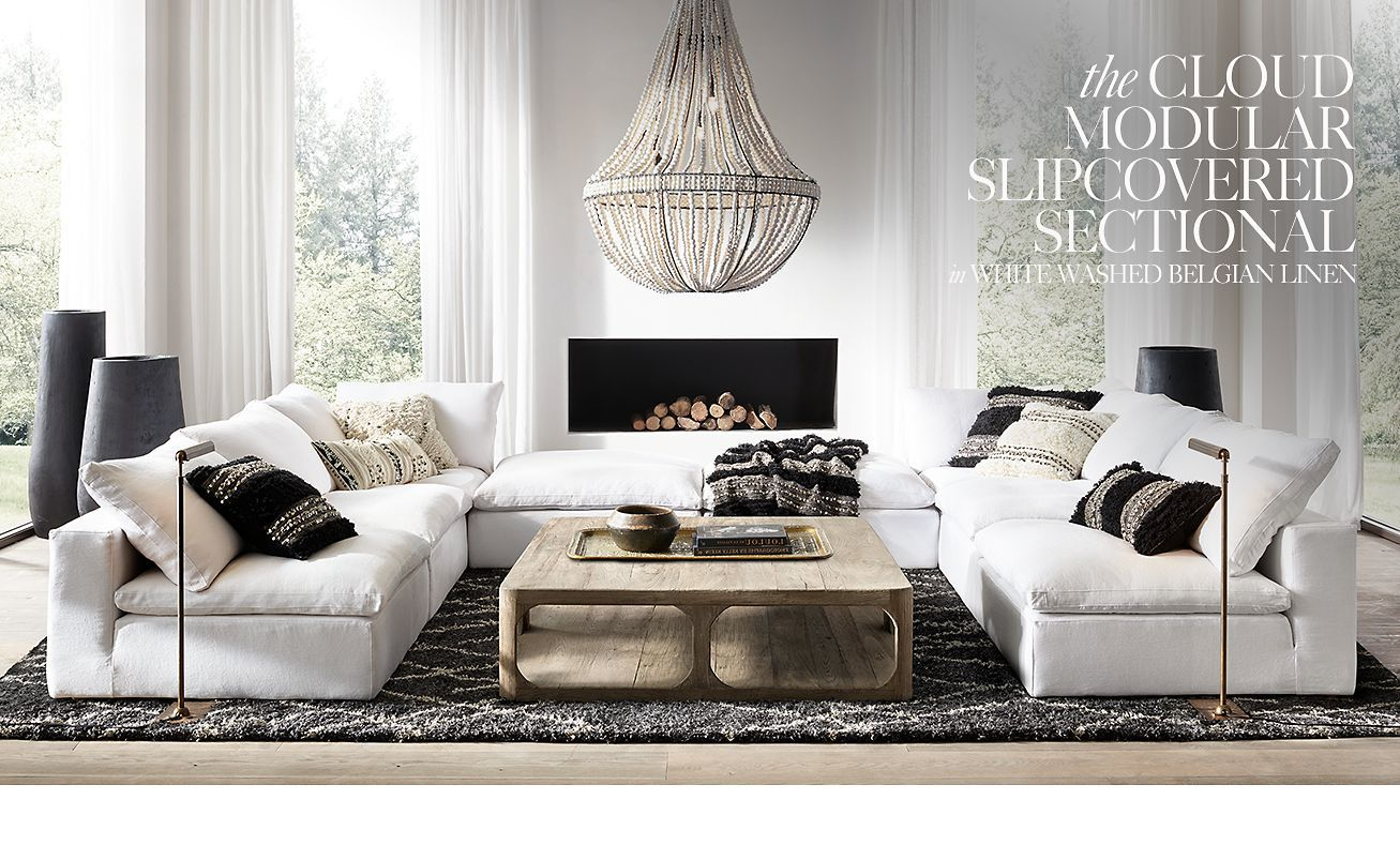 Restoration Hardware Sectional Sofa Linen Suitable For Dogs Cloud Love This Configuration The