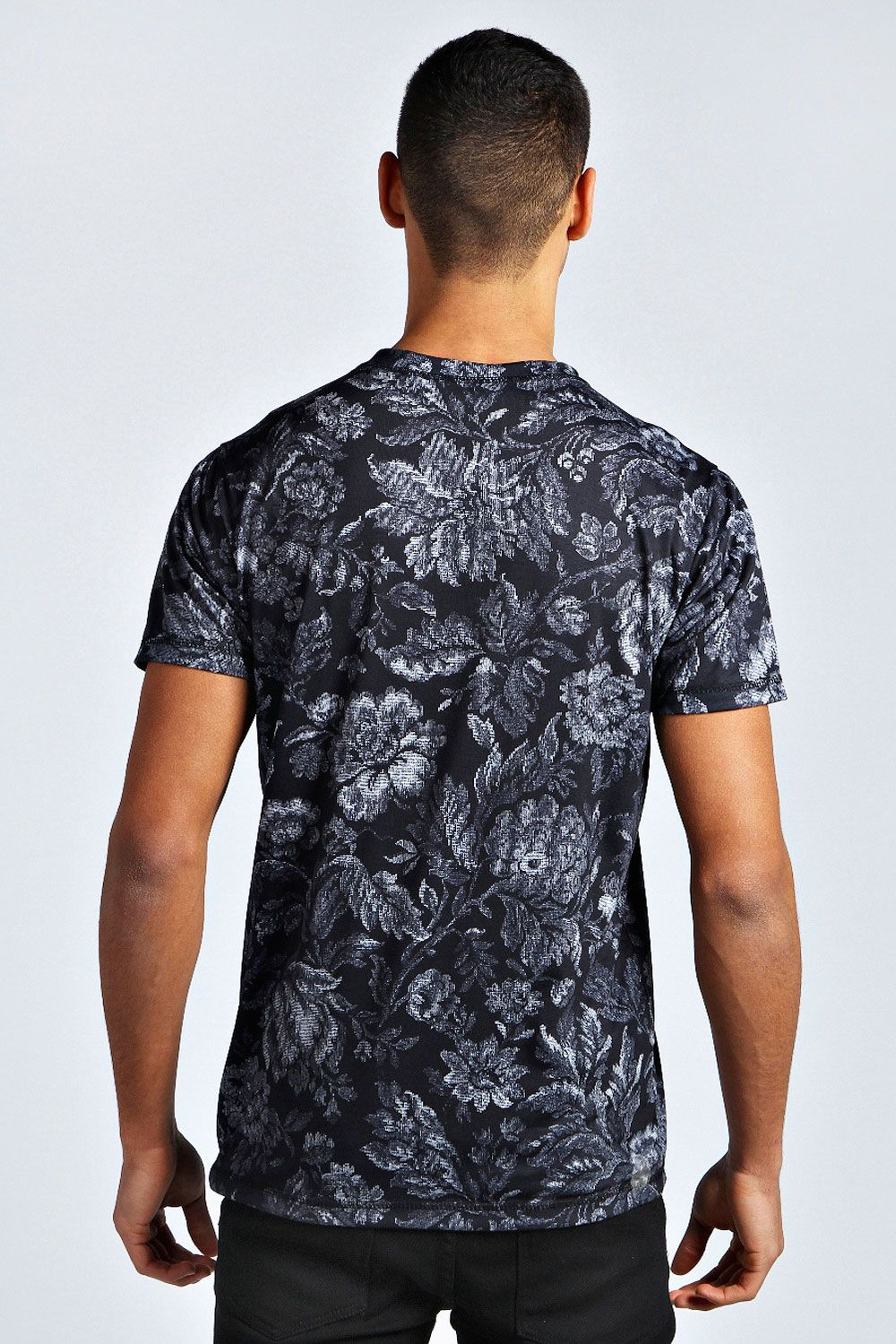 All Over Floral Printed T Shirt at boohoo.com | T shirt ...