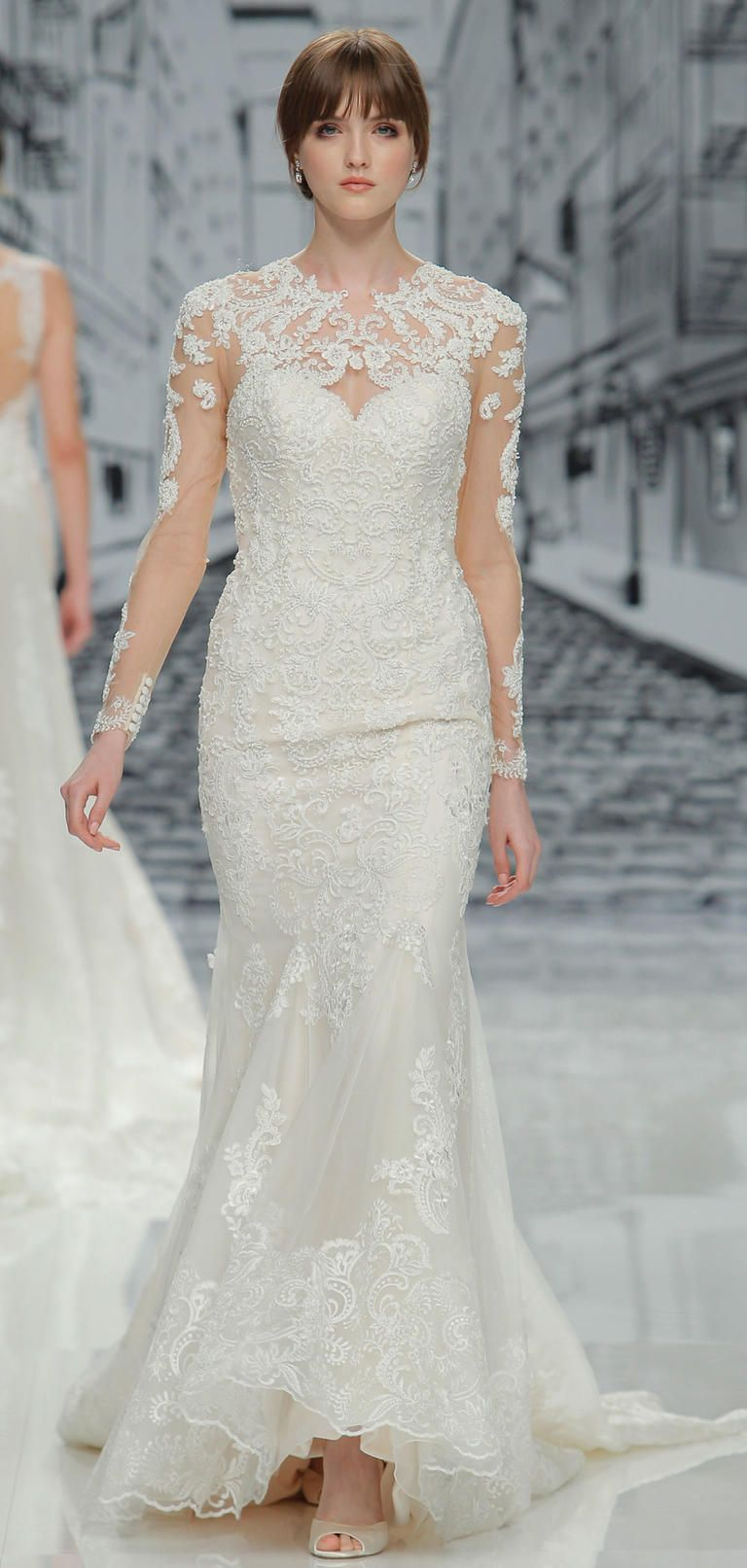 Winter wedding dresses perfect for a cold day for Winter wedding guest dresses with sleeves