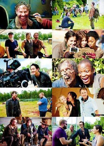 the walking dead-detras de escena