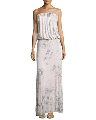 Sydney+Tie-Dye+Strapless+Dress,+Pink+by+Young+Fabulous+and+Broke+at+Neiman+Marcus+Last+Call.