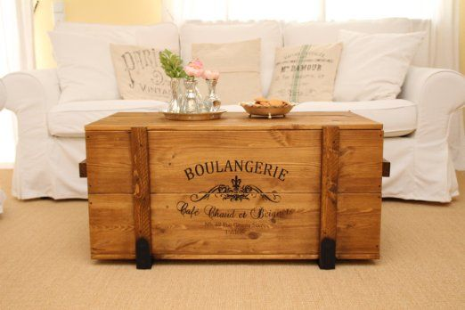 Schlafzimmer Truhe ~ Holzkiste shabby chic frachtkiste vintage truhe transportkiste