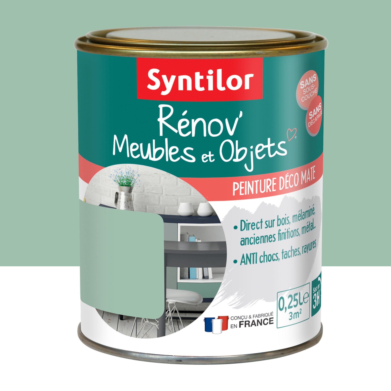 Peinture Pour Meuble Objet Et Porte Mat Syntilor Renov Vert Poesie 0 25 L