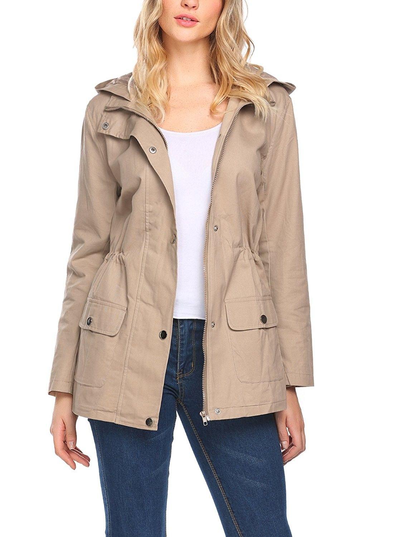 0564e812 Women's Clothing, Coats, Jackets & Vests, Trench, Rain & Anoraks, Anoraks, Women's  Military Anorak Utility Classic Safari Jacket With Pockets - Khaki Run ...