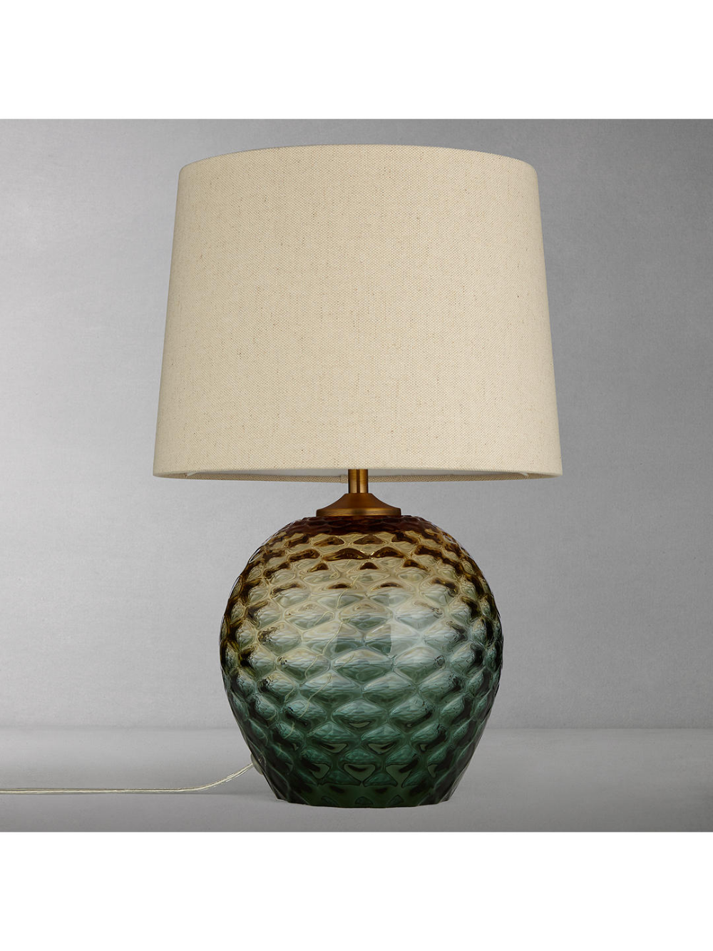 John Lewis Partners Abigail Dimple Ombre Table Lamp Green