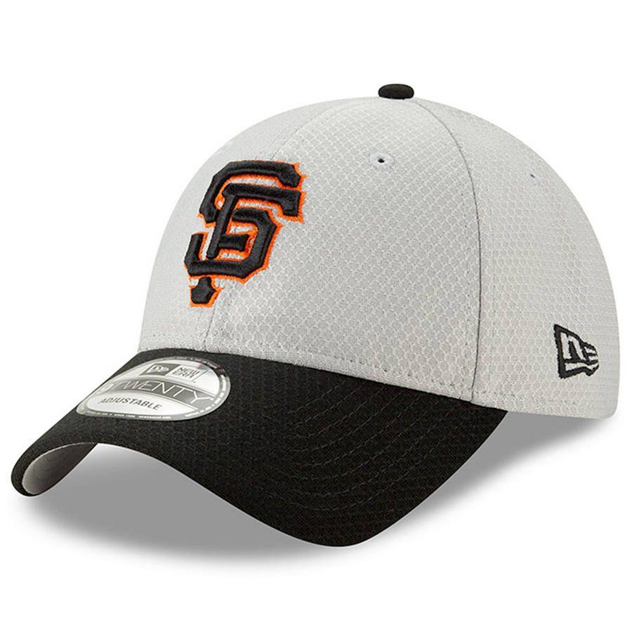 free shipping 805cd 03edd Men s San Francisco Giants New Era Gray Black 2019 Batting Practice Road 9TWENTY  Adjustable Hat, Your Price   25.99