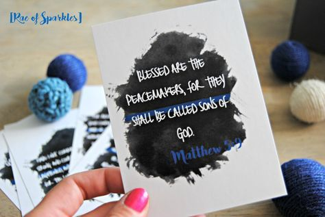 Bible Verse Printables for Police Officers