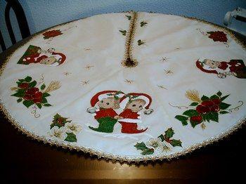 Pie de arbol con apliques proyectos que intentar - Arboles de navidad elegantes ...