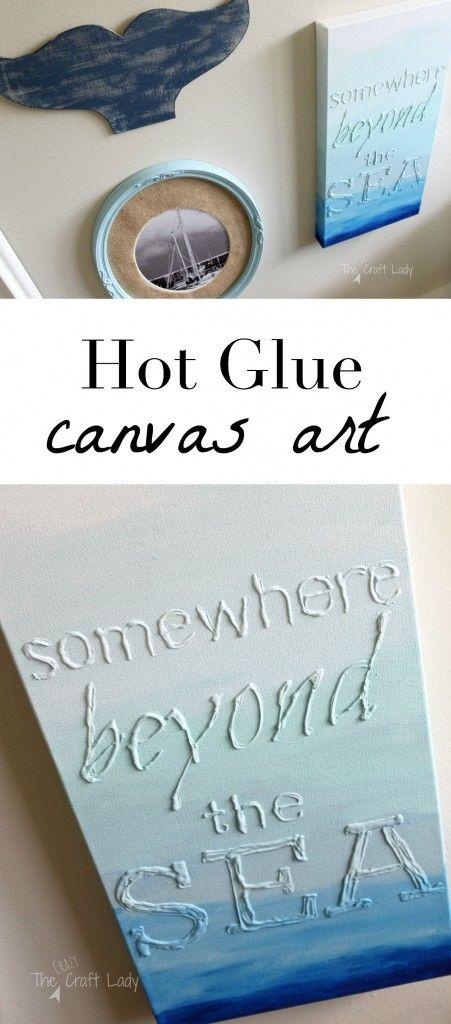 Hot Glue Canvas Art - The Crazy Craft Lady