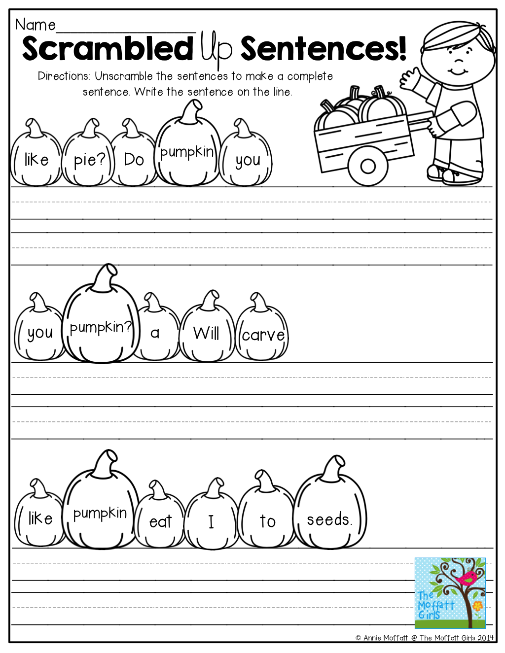 100 Unscramble Sentences Worksheet Scrambled Up With